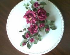 Flowers - burgundy-roses-spray