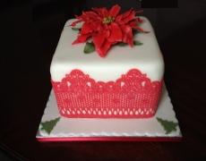 poinsettia-cake